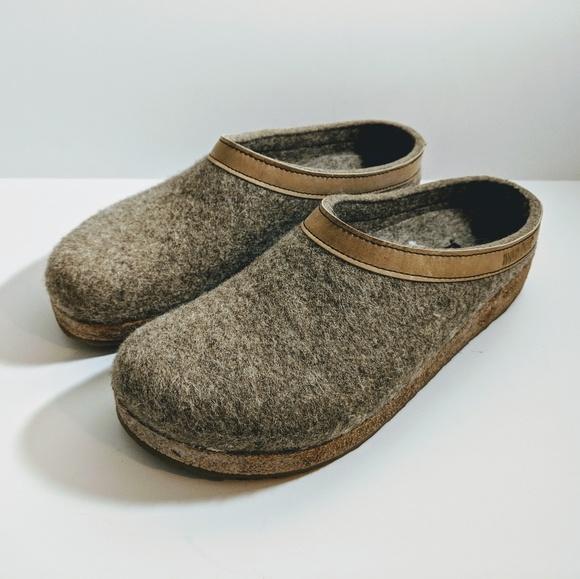 3cb4844e374 Haflinger Shoes - Haflinger GZL Grizzly Clogs Leather Trim Size 41
